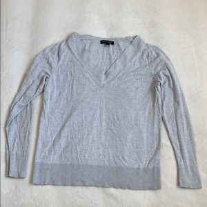 Banana Republic gray silk and cashmere sweater